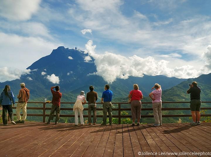 Watching Mt Kinabalu